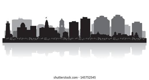 Halifax Canada city skyline silhouette vector illustration