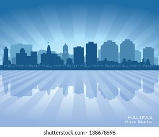 Halifax Canada skyline city silhouette. Vector illustration