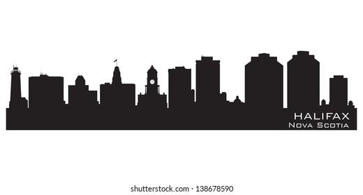 Halifax, Canada skyline. Detailed silhouette. Vector illustration