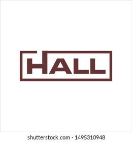 Hall Text Logo. Symbol. Icon Vector Eps 10.