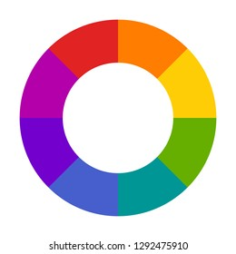 Hallow color wheel or color picker circle flat vector icon for drawing / painting apps and websites