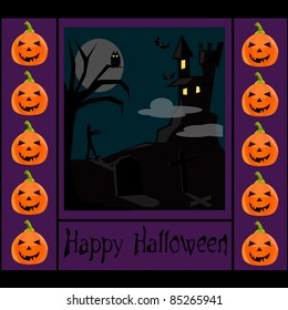 halloween background with a castle