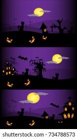 Halloween background design concept