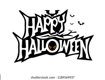 Halloween. background helloween. pumpkin smile. happy halloween inscription. the background. the bats. celebration.