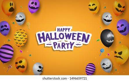 Halloween background illustration for celebration event