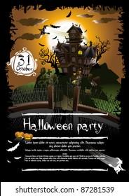 Halloween background illustration poster