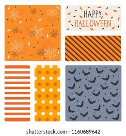 Halloween background pattern vector illustration
