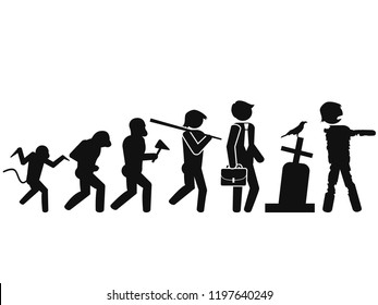 Halloween background of people Evolution to zombie