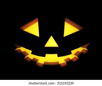 Halloween background with pumpkins lantern. Vector illustration