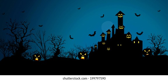 Halloween Background in VECTOR/ Eps10, Useful BG for your designs.  Premium Quality, Genuine and Satisfaction, Easy to Edit