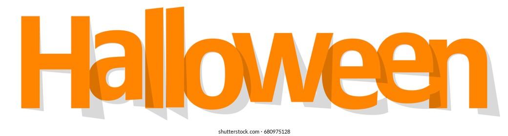 Halloween Banner orange on a white background.