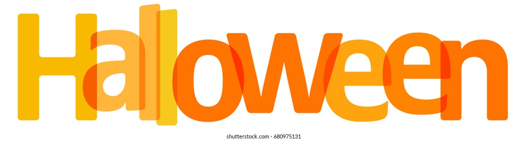 Halloween Banner orange transparent on a white background.
