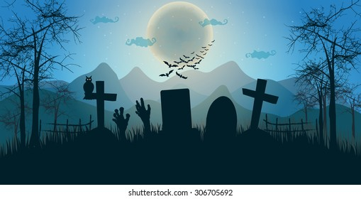 Halloween banner. vector illustration