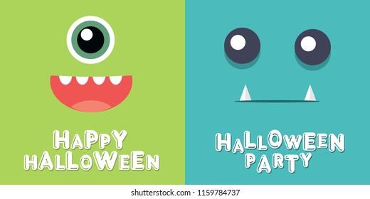 Halloween banner vector illustration in cartoon style