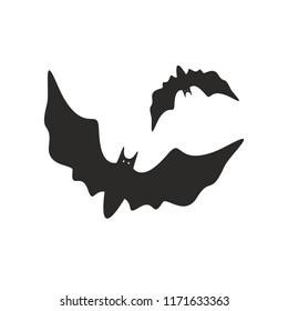 Halloween bat icon. Vector