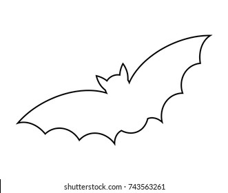 Bat Outline Images, Stock Photos & Vectors | Shutterstock