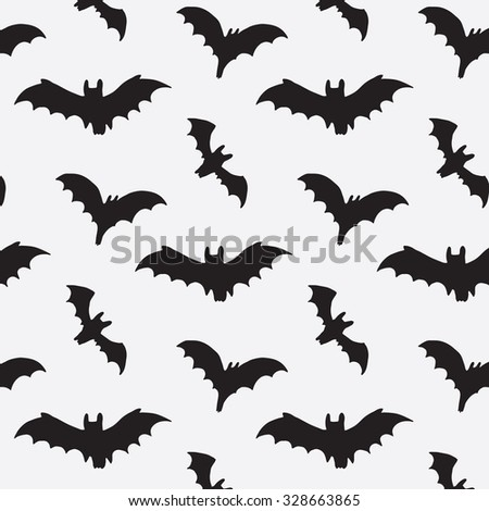 halloween bat silhouette pattern