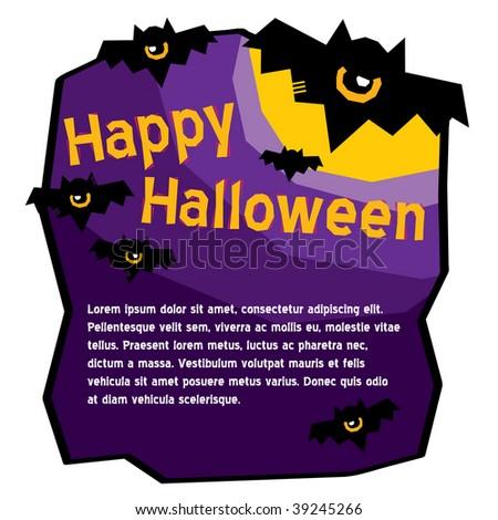 halloween bat template stock vector royalty free 39245266