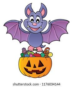 Halloween bat theme image 1 - eps10 vector illustration.