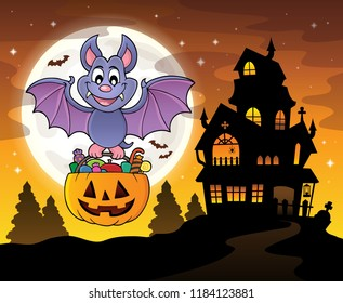 Halloween bat theme image 4 - eps10 vector illustration.