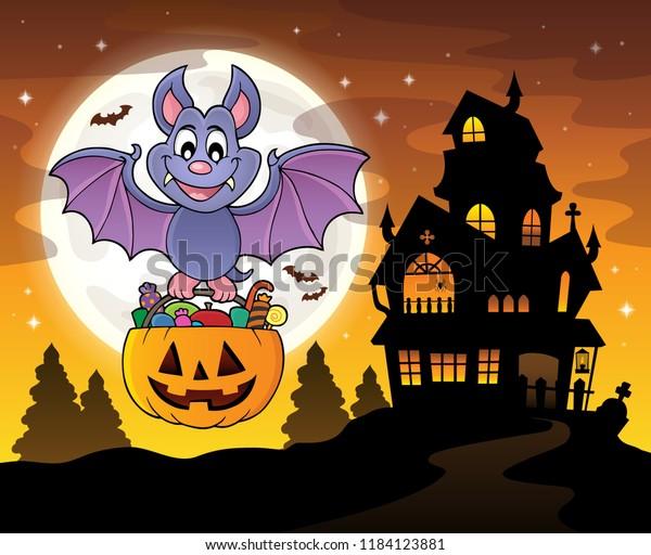 Halloween bat theme image 4 - eps10 vector illustration.