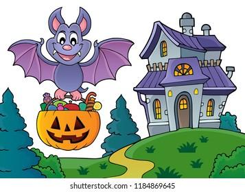 Halloween bat theme image 5 - eps10 vector illustration.
