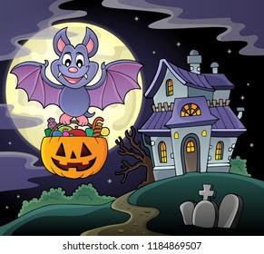 Halloween bat theme image 6 - eps10 vector illustration.
