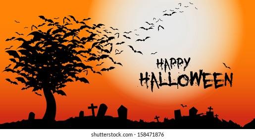 Halloween bat tree
