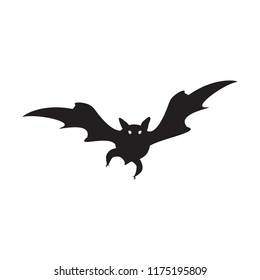 Halloween bat vector isolated on white background.