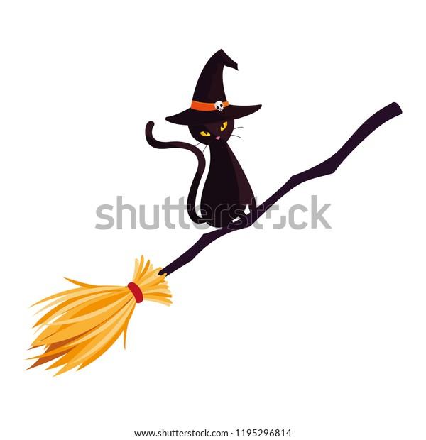 Fotografías hechas por nosotros mismos. - Página 12 Halloween-black-cat-witch-broom-600w-1195296814