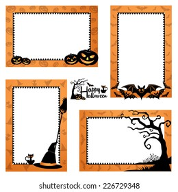 Halloween Border Design. Halloween Frames Design