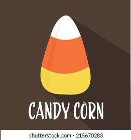 Halloween Candy Corn Flat Design Vector