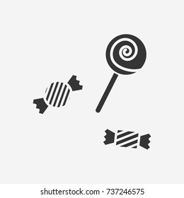 Halloween candy icon illustration isolated vector sign symbol