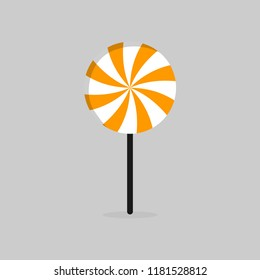 candy stick icon flat design template stock vector royalty free
