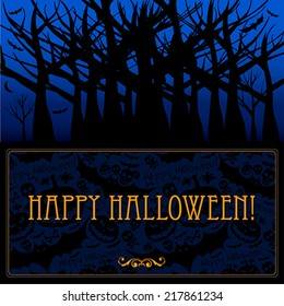 Halloween card or background. Vector art.