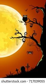 halloween card banner. eps10