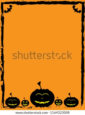 halloween card template stock vector royalty free 1164323008
