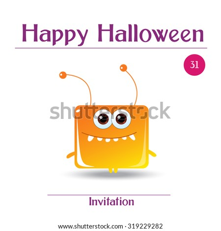 halloween cards with cute cartoon monsters happy halloween templates for placards posters