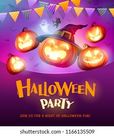 Halloween Celebration Fun Party. Jack O Lantern party.
