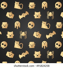 The Halloween characters pattern,Seamless vector  illustration.