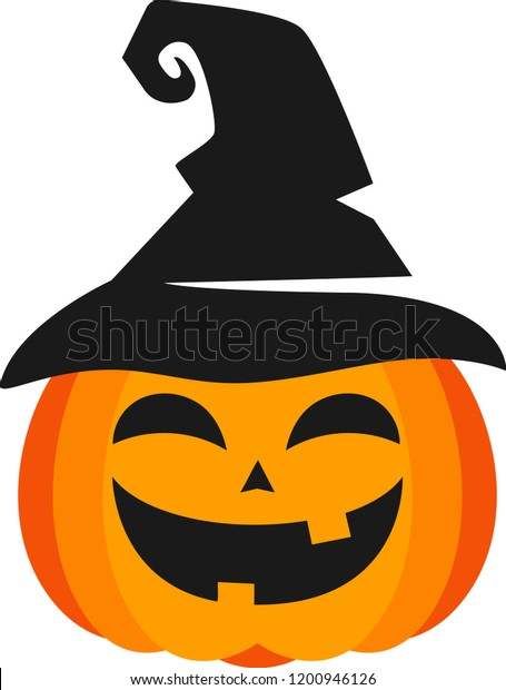 Halloween Clipart Smiling Pumpkin Wearing Witch Stock Vector Royalty Free 1200946126