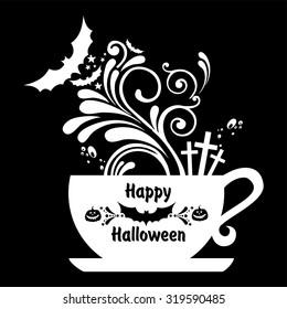 Halloween coffee. Vector illustration