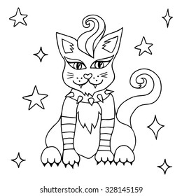 Halloween Coloring Book Vector Illustration Isolated Stock Vector