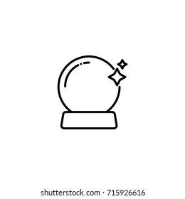 halloween crystal ball icon