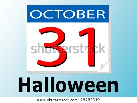 Halloween Day Calendar Date Stock Vector Royalty Free 18283519