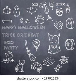 Halloween Decoration Elements - chalk board