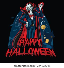 halloween design of dracula