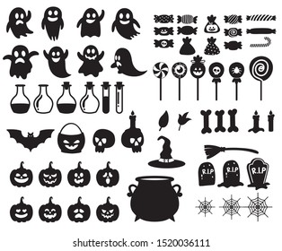 Halloween Element Silhouette Collections Pack
