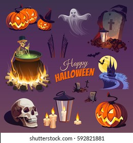 Halloween Elements and Objects for Design Projects