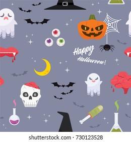 Halloween elements pattern. EPS10